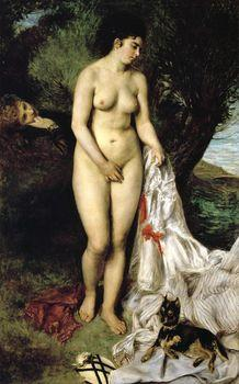 Bather with a Griffon, Auguste Renoir