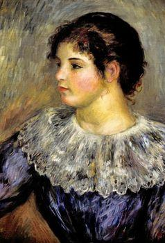 Portrait of a young woman, Auguste Renoir