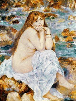 Seated bather, Auguste Renoir