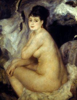 Seated nude, Auguste Renoir