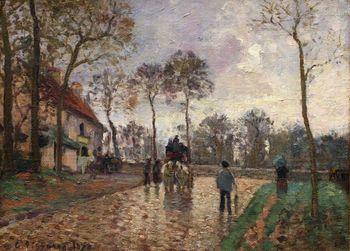 Stagecoach to Louveciennes, Camille Pissarro
