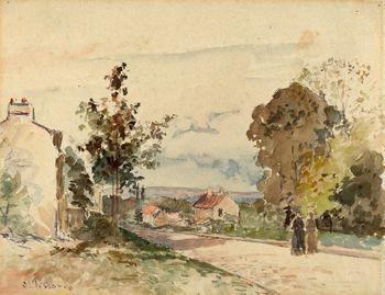 The road from Versailles to Louveciennes, Camille Pissarro