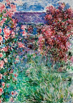 The house among roses, Monet