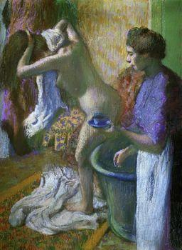 Breakfast after the bath, Degas