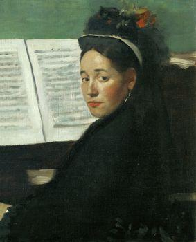 Mademoiselle Dihau at the Piano, Degas