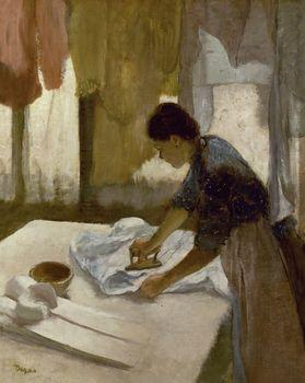 Servant Girl Ironing a Shirt, Degas