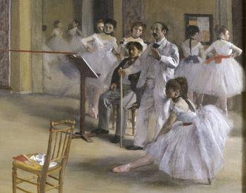 The Dance Foyer at the Opera on the rue Le Peletier, Degas