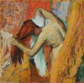 Woman at her toilet, Degas