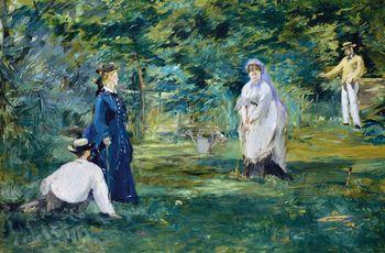 A game of croquet, Manet