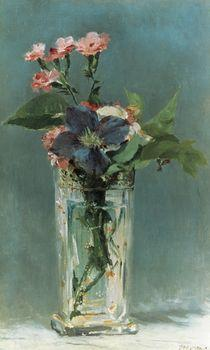 Carnations and Clematis in a Crystal Vase, Manet