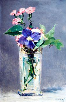 Clematis in a Crystal Vase, Manet