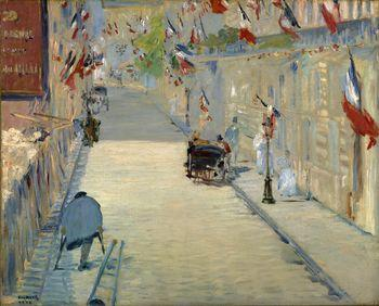Rue Mosnier decorated with Flags, Manet