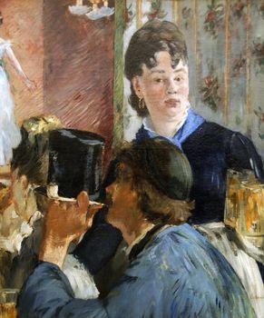 The beer maid, Manet