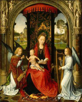 Madonna and Child with Angels, Memling