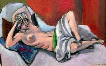 Reclining nude with drapery, Matisse