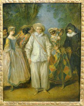 The actors of the Italian Comedy, Watteau