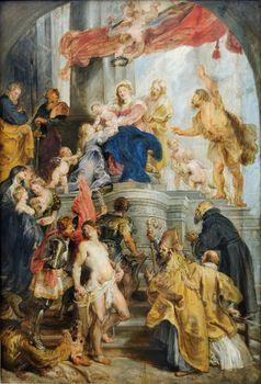 Enthroned Maria and the Child Sanctify, Rubens
